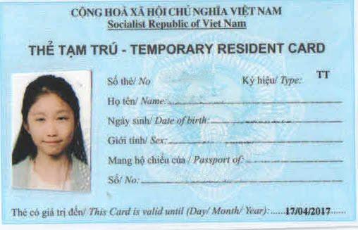 Làm thẻ tạm trú cho người nước ngoài tại Bình Dương